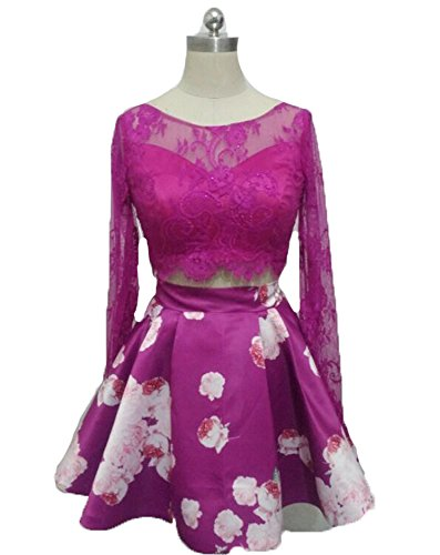 BD257 Pink Homecoming Hot Piece Sleeve Dresses Long Lace BessDress Short Dresses Prom Two npqxOHpUSw