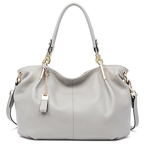 Grey Leather Handbags - 3