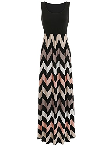 Sherosa Chevron Striped Summer Sleeveless product image