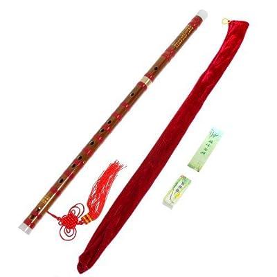 1pkg Traditional Handmade Dizi Bamboo Flute Chinese Musical Instrument in E Key