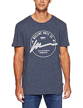 Mossimo Men's Game Changer Crew TEE, Midnight Ink Marle, XS