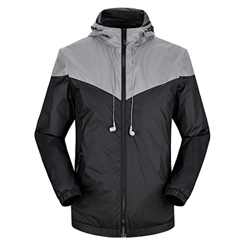 homaok-mens-womens-outdoor-lightweight-jacket-with-washable-earphone-medium-black