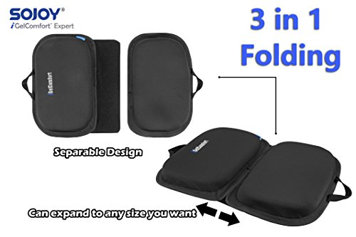 "Sojoy iGelComfort 3 in 1 Foldable Gel Seat Cushion Featured with Memory Foam (A Must-Have Travel Cushion! Smart, Easy Travel Cushion) (Size: 18.5"" x 15'' x 2'') by Sojoy (Image #6)"