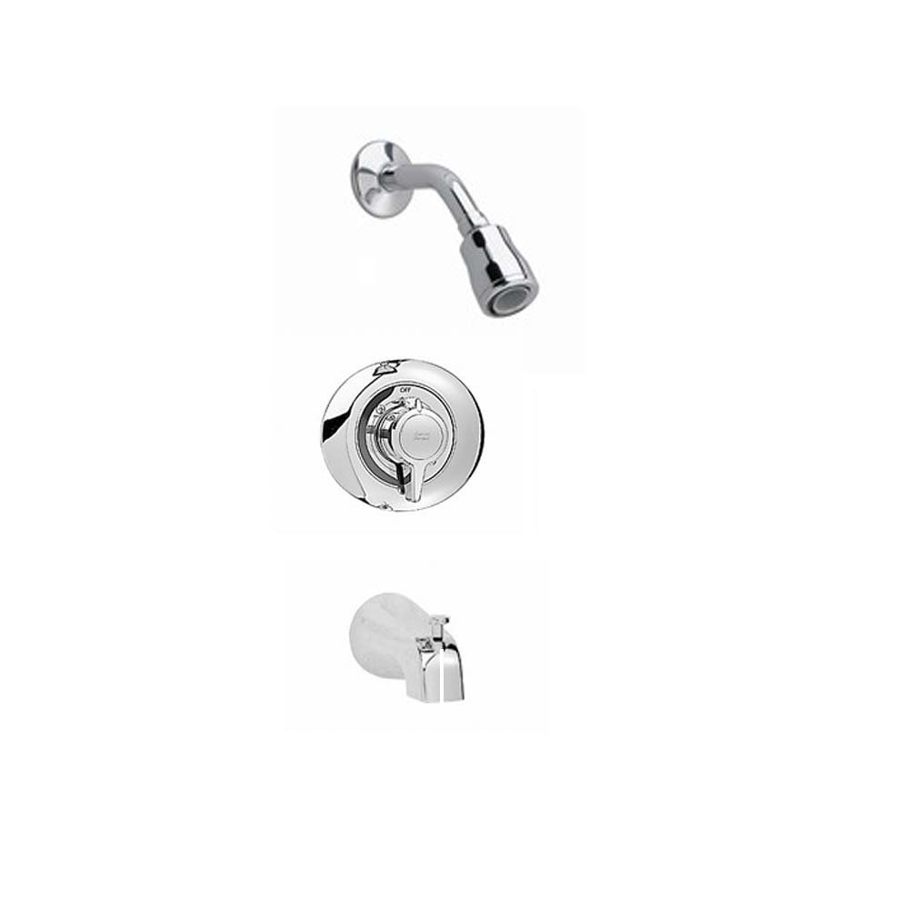 American Standard T375128.002 Colony Bath/Shower Trim Kit with Flowise Water Saving Showerhead Shower Arm, Polished Chrome