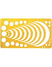SUSHUN K Harssjabloon Liniaal Stencil Meetinstrument voor het tekenen van vele ronde cirkels: