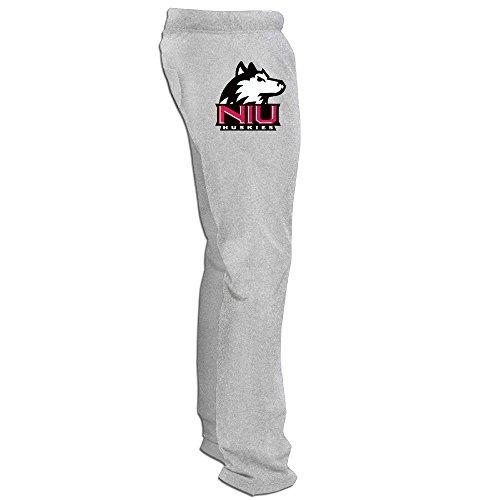 Northern Illinois Huskies Logo Men's Fleece Pant Ash ()