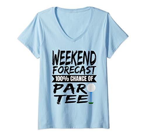 Womens Lets Par Tee Funny Golf Golfing Gift V-Neck T-Shirt ()
