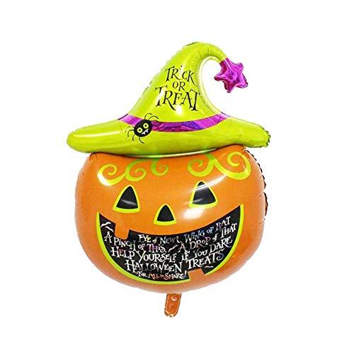 BRUIO Creative Pumpkin Balloons Aluminum Foil Halloween Party