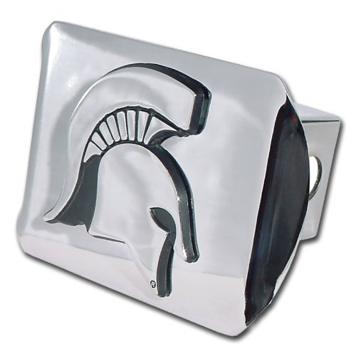"Michigan State University Spartans ""Bright Polished Chrome w"