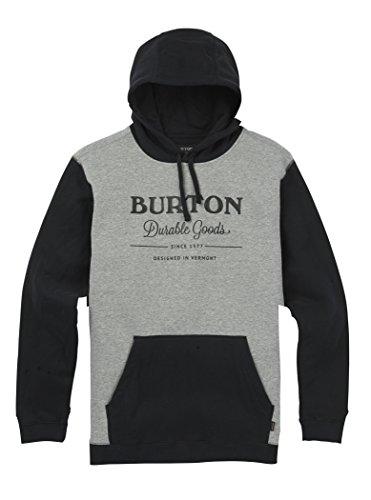 Clothing Burton Mens (Burton Men's Durable Goods Pullover Hoodie, True Black/GreyHeather, Large)