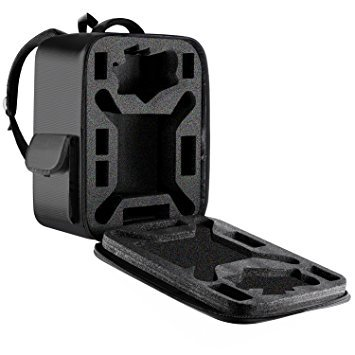 Neewer Watertight UAV Backpack with Detachable Dense Foam, Outdoor Travel Bag for DJI Phantom 1 FC40 2 2 Vision 2 Vision+ 3, DJI 3 Professional, Advanced, Standard, 4K Cameras and Accessories (Black)