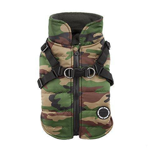 Puppia Authentic Mountaineer II Winter Vest, Medium, Camo by Puppia