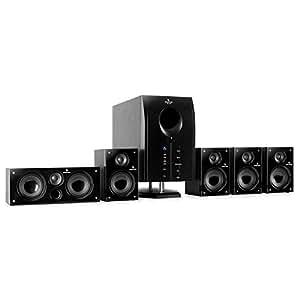 Auna Xcess - Equipo de altavoces (95 W, 230 V, mando a distancia), negro