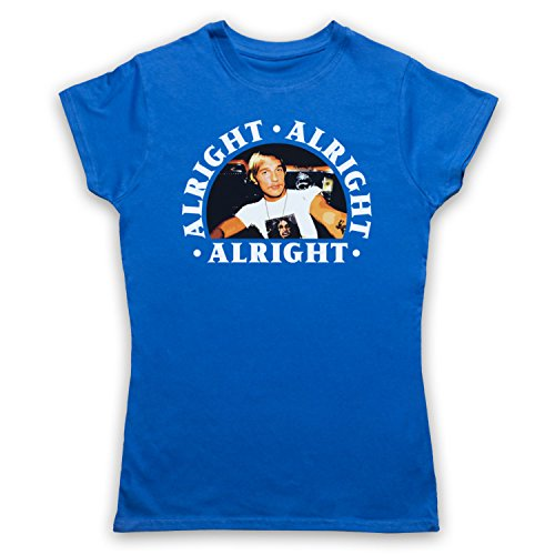 Dazed And Confused Alright Alright Alright Camiseta para Mujer Azul Real