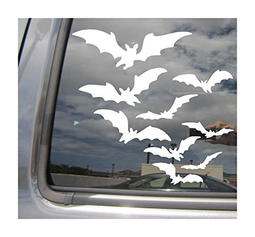 Right Now Decals Flying Bats - Halloween Vampire - Cars Trucks Moped Helmet Hard Hat Auto Automotive Craft Laptop Vinyl Decal Store Window Wall Sticker 01058]()