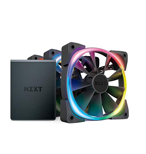 Price comparison product image Nzxt AER RGB 2 120mm Case Fans Triple Starter Pack with Hue 2 Black (HF-2812C-T1)