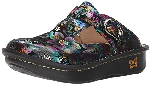 (Alegria Women's, Classic Liberty Love Slip on Clog Black Multi 39 M)
