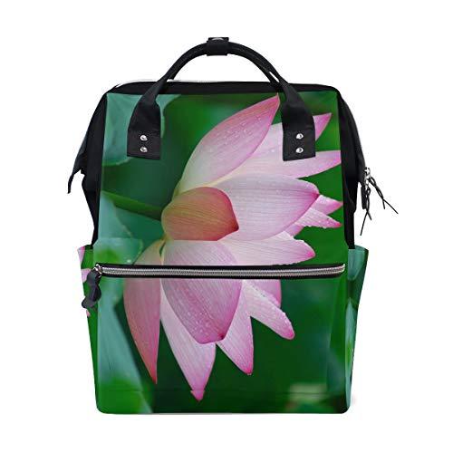 (Backpack Nature Flower Garden Wild Pink Lotus Mens Laptop Backpacks Hiking Bag School Daypack)