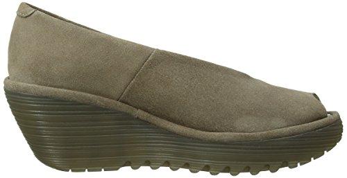 Fly London Yuri - Zapatos de vestir de cuero para mujer Beige - beige (topo)