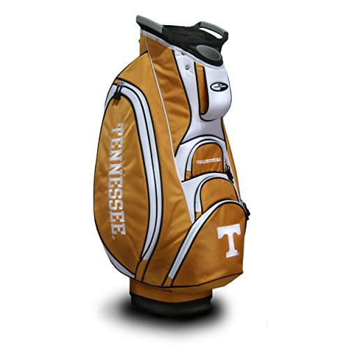Team Golf NCAA Tennessee Volunteers Victory Golf Cart Bag, 10-way Top with Integrated Dual Handle & External Putter Well, Cooler Pocket, Padded Strap, Umbrella Holder & Removable Rain Hood