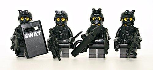 [해외]스왓 팀 경찰 분대 - 현대 벽돌 전투 주문 Minifigure/Swat Team Police Squad - Modern Brick Warfare Custom Minifigure