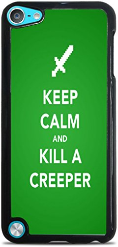 Keep Calm Kill Creepers Art Black Hardshell Case for iPod Touch 5G by MWCustoms
