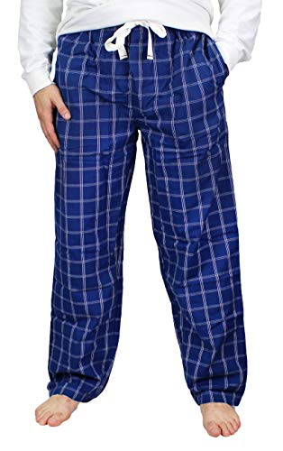 Fruit of the Loom Men's Woven Pajama Pant (Blue Square, X-Large)