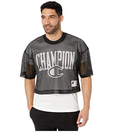 Champion LIFE Men's Mesh Football Jersey, Black, Large
