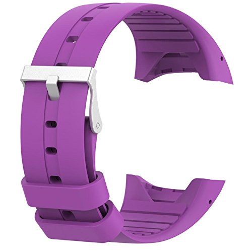 Price comparison product image Owill Replacement Soft Silicone Rubber Watch Band Wrist Strap For Polar M400 M430 Fitness Watch,  Band Length 25CM (Purple)