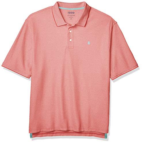 IZOD Men's Big and Tall Advantage Performance Short Sleeve Solid Polo Shirt