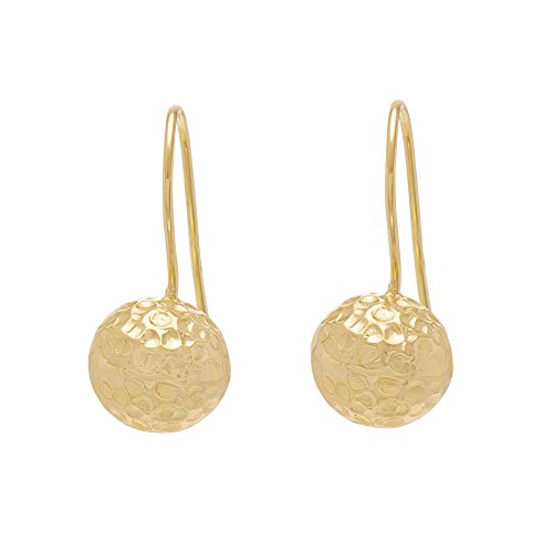 Sterling Silver Polish Gold Hammered Earrings (Polish Gold Hammered Earrings)