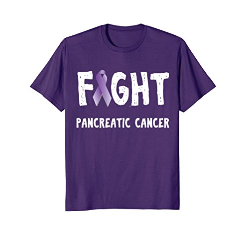 Mens Fight Pancreatic Cancer Purple Ribbon Awareness T Shirt XL Purple (Cancer Ribbon Purple T-shirt Hope)