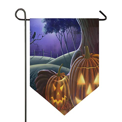 Happy Halloween Wallpaper Garden Flag Outdoor Banner Decorative