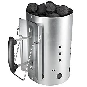 Bruzzzler - Chimenea de encendido con mango de seguridad – encendedor de barbacoa de carbón 30 x 19 cm