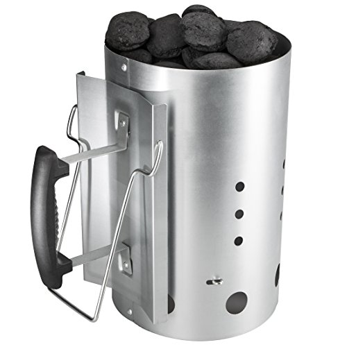 Bruzzzler Anzündkamin mit Sicherheitsgriff - Grillkohleanzünder Brennsäule 30 x 19cm