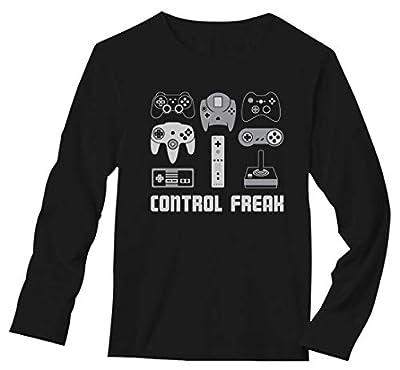 TeeStars - Video Game Control Freak Gaming Funny Gamer Long Sleeve T-Shirt