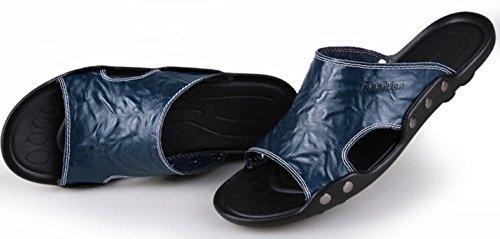 Morbidi Uomo Neutre In Donna Pantofole Per Pelle In Sandali Antiscivolo Ciabatte Da E Blue E Da Pelle CYGG Inferiori Scamosciata ZqFUwPt