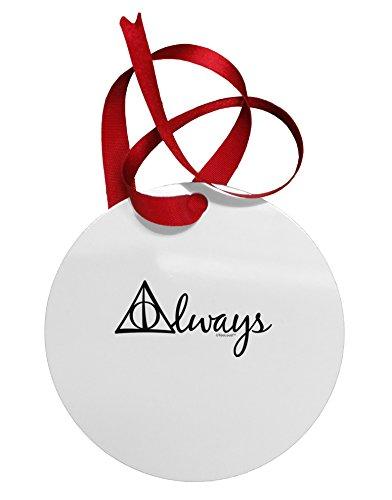 TooLoud Always Magic Symbol Cursive Circular Metal Ornament (Christmas Az Phoenix For Trees Sale)