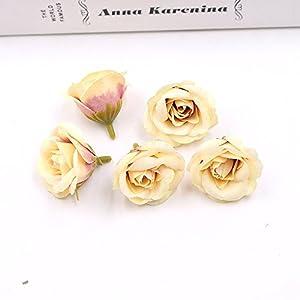 Artificial Flower Silk Rose Wedding Home decoration DIY Wreath Fake Flowers 30pcs 4cm 83