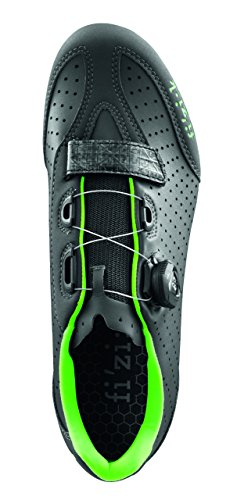 Fizik R3B Rennradschuhe Herren anthrazite/fluo grün Größe 46 2017 Spinning-Schuhe MTB-Shhuhe