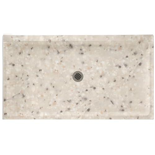 Swanstone SS-3460-040 60-Inch by 34-Inch by 5-1/2-Inch Single Threshold Shower Floor, Bermuda Sand Finish