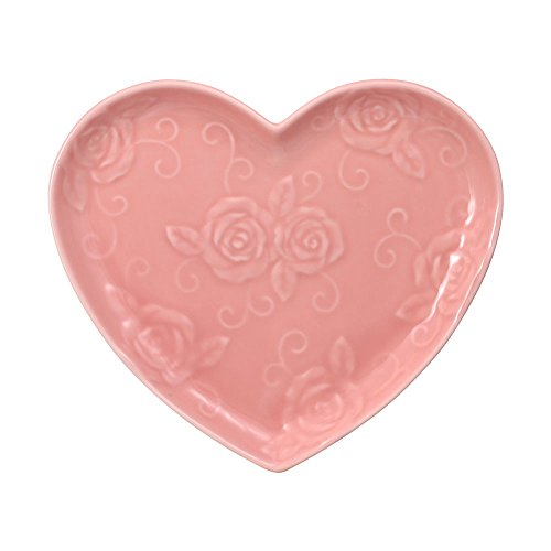 Pfaltzgraff Tea Rose Pink Heart Shaped Plate ()