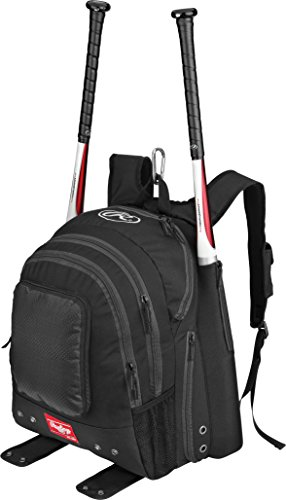 Rawlings Sporting Goods BKPK Backpack, (Black Rawlings Bat)