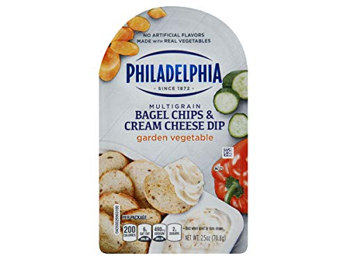 Philadelphia Garden Vegetable Bagel Chips and Cream Cheese Dip, 2.5 Ounce -- 10 per case.
