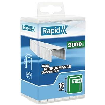 5.000 St Rapid 40303088 Flachdrahtklammer Typ 140//6mm 6 mm Wiederverschlie/ßbare Kunststoffbox