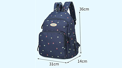 Bebé fuera de la bolsa, bolso de la mamá del hombro, bolso de múltiples funciones de la madre de la manera de gran capacidad, bolso del bebé de la madre ( Color : Red and blue lily ) Red and blue lily