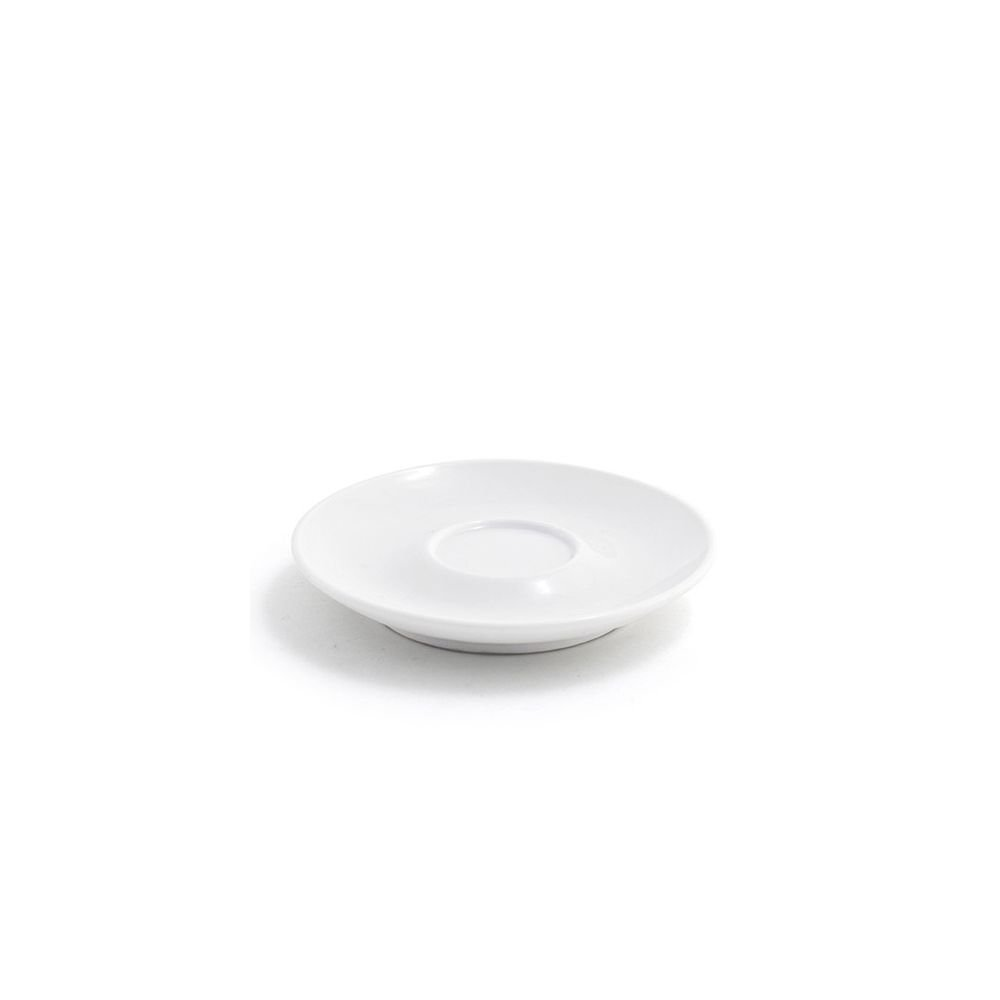 Front of the House DCS016WHP23 Milano Saucer, 0.75'' Height, 4.75'' Diameter, Porcelain, White (Pack of 12)