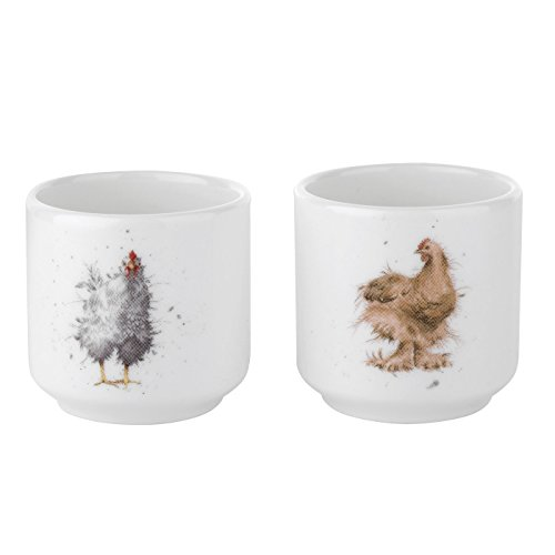 Wrendale by Royal Worcester Egg Cups Chickens, Set of 2