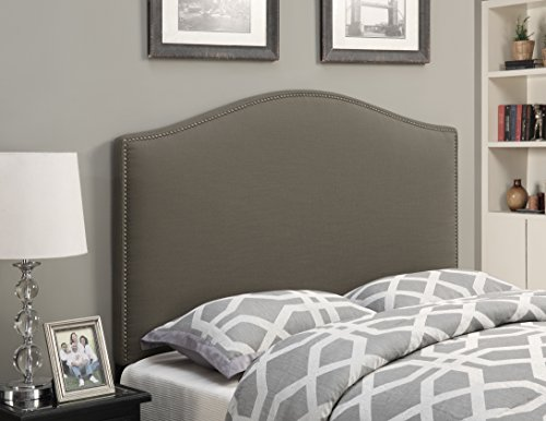 Pulaski Camel Back Upholstered Headboard, Taupe, Full/Queen
