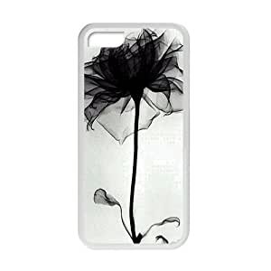 beautiful abstract black flower white background personalized high quality cell phone case for ipod touch4